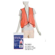 chaleco de seguridad de caza de plástico naranja barato reflectante