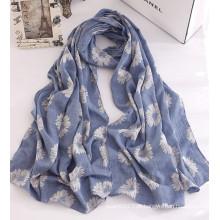 Mulheres moda flor lenço de algodão estampado (yky1137)