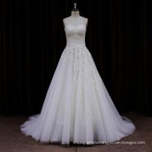 Новый Arriveal Sheer Кружева Собора Поезд Свадебное Платье 2013