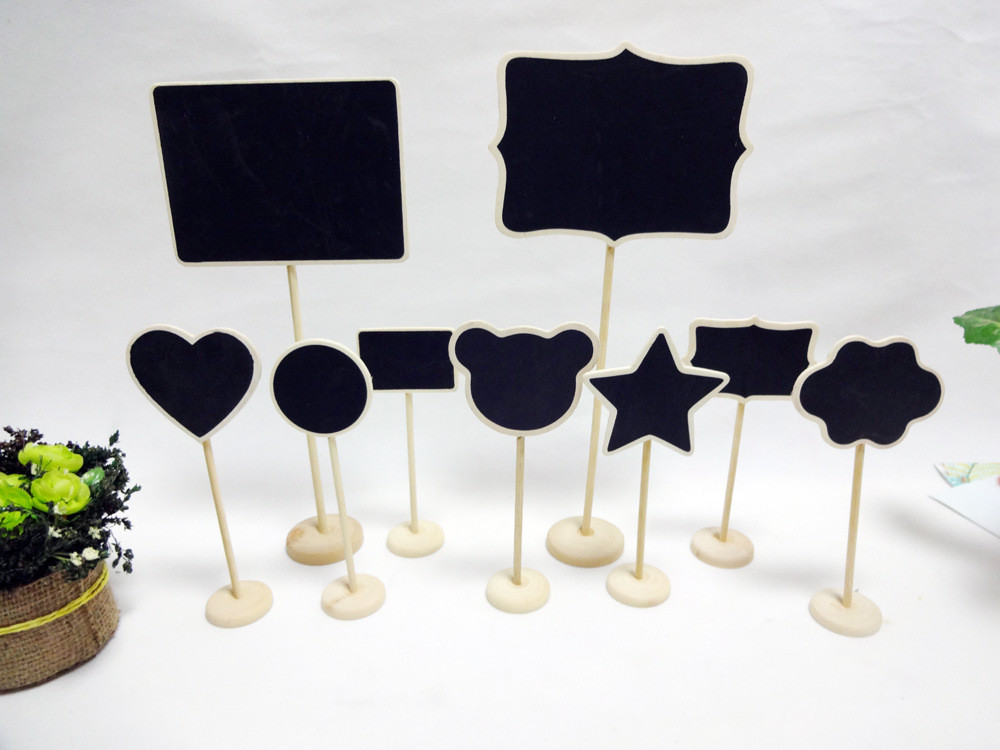 Rectangle Minin chalkboard standing