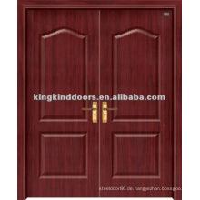 PVC-Tür / Holztür mit PVC-Blatt (JKD-1812) für doppelte Tür-Design