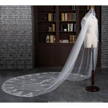Nagelneue Kathedrale Länge 3 Meter Elfenbein Hochzeit Schleier mit Kamm
