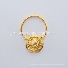 Joyería hecha a mano del anillo de nariz de la plata esterlina 925 plateados, joyería del anillo de la nariz de Septum de IndianTribal