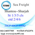 Shantou Port Sea Freight Shipping ke Sharjah