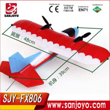 Fly training para principiantes rc airplane 2.4CHZ Durable EPP rc planeador Electric rc Airplane SJY-FX806