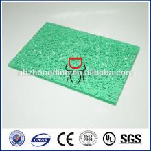 feuille en polycarbonate feuille pc feuille en polycarbonate gaufrée utilisée pour la douche de salle de bains