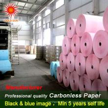 rollos de papel de color