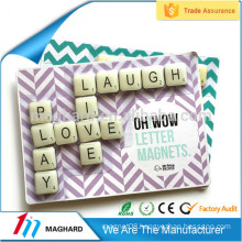 2016 new epoxy letter magnet set magnet puzzle in blister