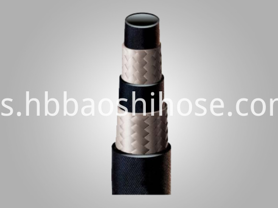 Two-layers Rubber Tube Fiber Braided