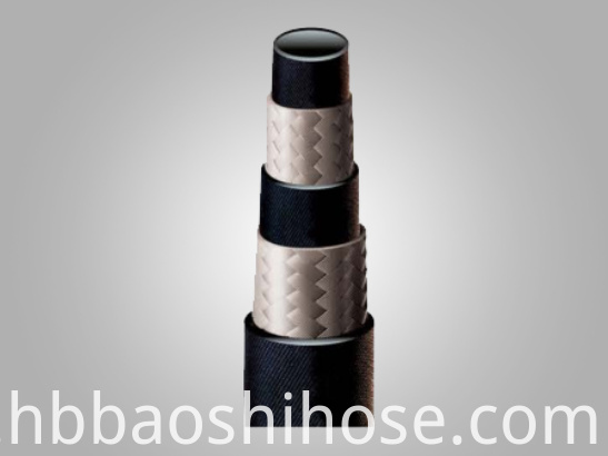 Two Fiber Braids Reinforcement Rubber Hose