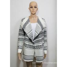 Camisola de malha de acrílico de malha senhora moda (yky2006)
