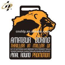 Concours de design personnalisé propre médailles de sport de boxe en alliage de zinc