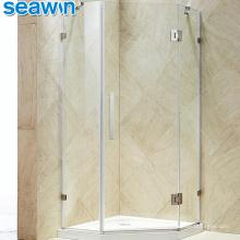 Seawin Small Hardware Tempered Glass Cubicle Corner Cabin Shower Door Enclosure