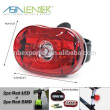 2pcs LED rojo + 1pc lámpara roja de la bicicleta de SMD