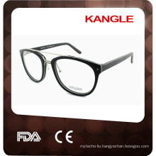 Hot sale trendy Acetate with metal optical glasses frames for 2017, combination eyeglasses