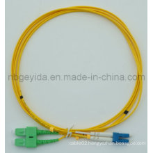 3.0 Sc/APC-LC/Upc Sm Duplex Fiber Optic Patch Cord