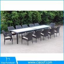 Ensemble de table et de chaises de rotin de Seaters de 12 meubles de jardin