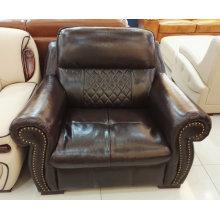 América sofá, sofá de cuero, muebles caseros, sofá de la combinación (A57)