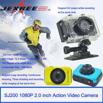 Câmera digital impermeável JEXREE SJ200 esportes câmera de ação com o pacote de varejo