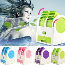 Desktop Dual Bladeless Portable Adjustable Angles Scented Air Conditioning USB Air Cooler
