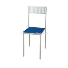 Chaise à dossier à dossier, simple chaise en métal pour hôtel