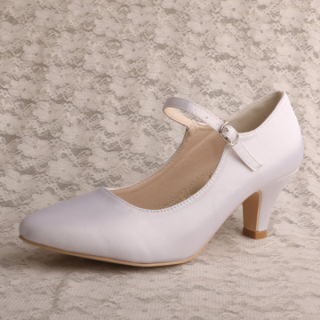 Womens Pointed Toe Mid-Heel Mary Janes