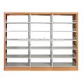 Modern used best selling metal frame wooden cover library bookshelf