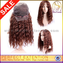 Fashion Lady 100% Human Hair Braided Layered Full Lace Wig Indian Remy