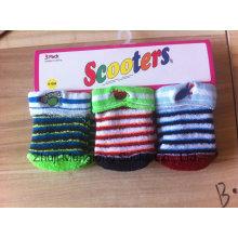 Chaussettes de coussin mignon hiver nouveau-né coton chaussettes bébé avec broderie