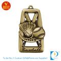 Qualitäts-kundenspezifisches Kupfer, das antike Goldbaseball-Medaille mit heraus höhlt
