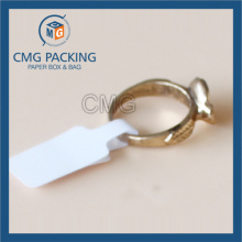 White Water Proof Folded Adhesive Ring Price Tag (CMG-STR-010)