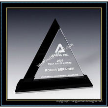 "Crystal Award Triangle Plaques 9"" H (NU-CW706)"