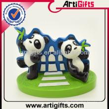 Customized 3D lovely panda polyresin figurine