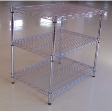 Adjustable Chrome Metal Exhibition Display Rack Stand, NSF Approval