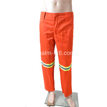 Orange Polyester / Cotton Pants