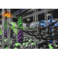 Indoor Gym Ninja Warrior Gym Park pour les enfants