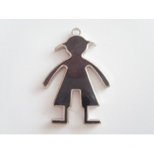 new products silver fashion men shaped pendant metal tag