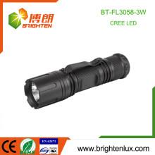 Factory Supply Logo gedruckt EDC Hochwertige Hochleistungs Aluminium 7W Cree LED Taschenlampen mit Gürtel Clip