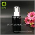 30ml 50ml 100ml black lotion glass bottle with pump sprayer