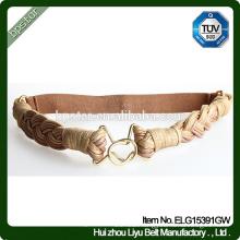 Fashion Elastic Belt Lady Female Strap Cintos Women waistband Designer for Dress Golden Braided Ceinture