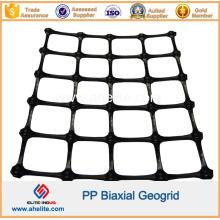Geogrelha Biaxial PP para reforço de base