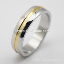 Forme a amantes de la joyería el chapado en oro los anillos de compromiso baratos para las mujeres