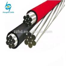 0.6/1KV Low voltage Aluminum Conductors 2/3/4 cores overhead Aerial Bundle xlpe ABC cable