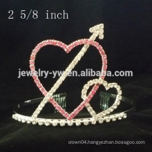 wholesale hair accessories crystals heart shape headband