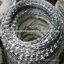 CBT-65 electro galvanizado Scraper tipo afeitado alambre de púas para la protección con precio razonable en la tienda (fabricante)