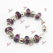 Bracelets en charpente en bois à perles violet clair et perles en béton (SKD60226)