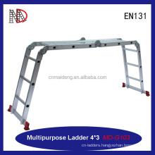 12.5FT Multi Purpose Aluminum Folding Step Ladder Scaffold Extendable With 330lb Heavy Duty