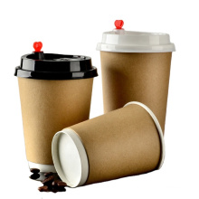2021 pe coated paper cup wholesale with lid and straw supplier