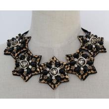 Мода Кристалл коренастый нагрудник костюм колье воротник ожерелье (JE0015)