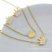Color Plated Rhinestone Clay Pave Gold Jewelry Sets